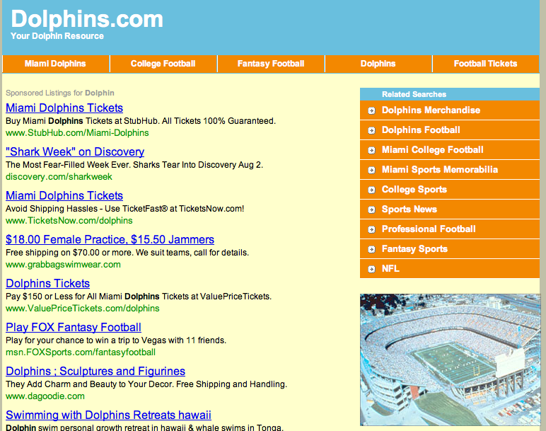 Dolphins.com screenshot
