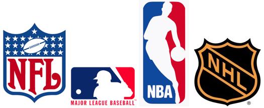 NBA, NFL, MLB, NHL
