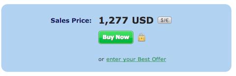 Sedo Sales Price