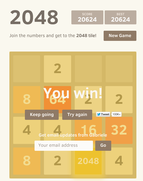 2048 high scores