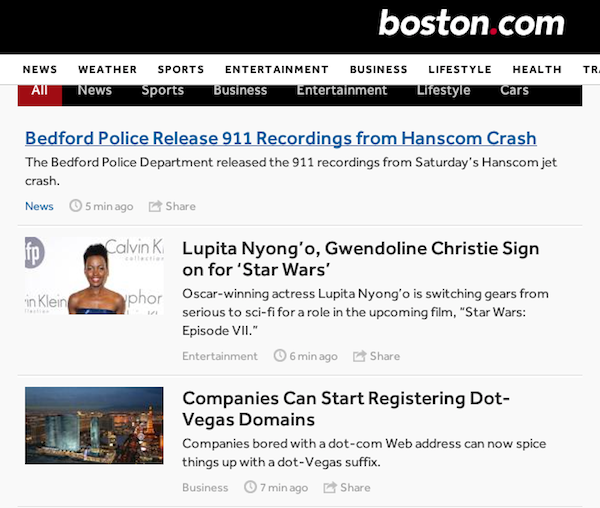 Dot Vegas Article Boston.com
