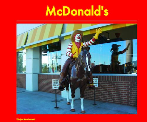 McDonalds.Horse