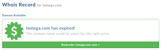 Iomega.com Domain Name