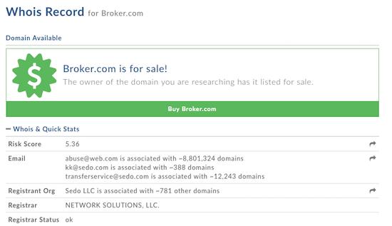 Broker.com Whois