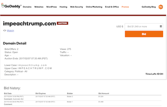 ImpeachTrump.com Domain Name